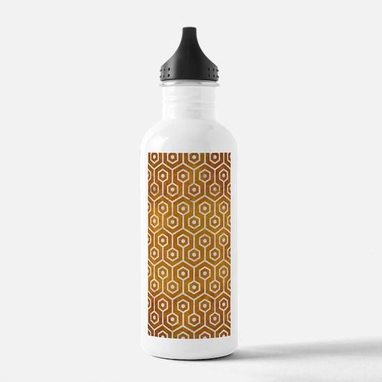 HEXAGON1 WHITE MARBLE Water Bottle