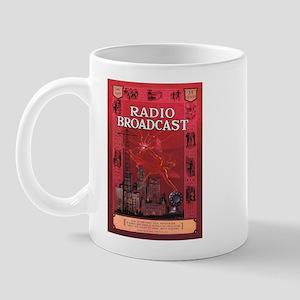 Radio Broadcast Red Mug
