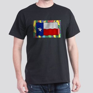 Texas Flag On Stained Glass T-Shirt