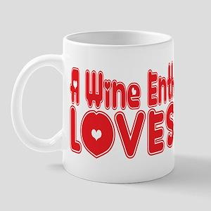 A Wine Enthusiast Loves Me Mug