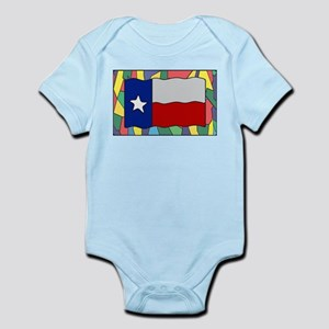 Texas Flag On Stained Glass Body Suit