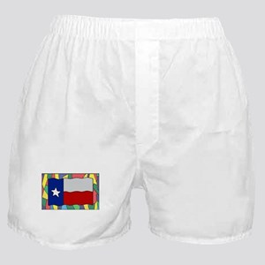 Texas Flag On Stained Glass Boxer Shorts