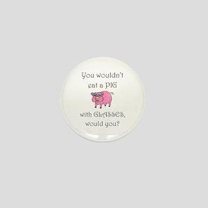 Pig with Glasses (PETA) Mini Button