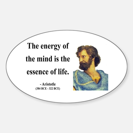 Aristotle 12 Oval Decal