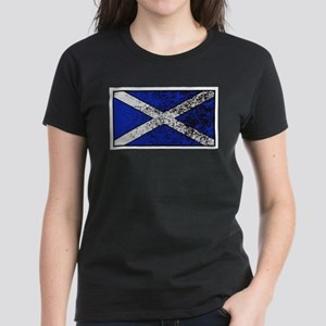 Scotland Flag Grunged T-Shirt