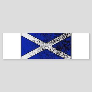 Scotland Flag Grunged Bumper Sticker