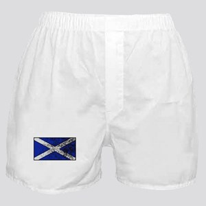 Scotland Flag Grunged Boxer Shorts