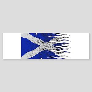 Wavy Scotland Flag Grunged Bumper Sticker
