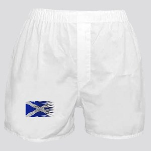 Wavy Scotland Flag Grunged Boxer Shorts