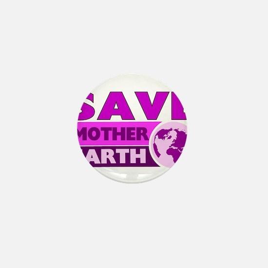 Save the earth Mini Button