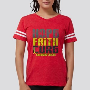 HOPE FAITH CURE Childhood Cancer T-Shirt