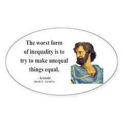 Aristotle 14 Oval Decal