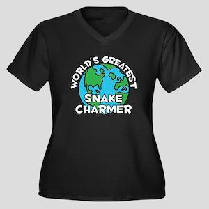 World's Greatest Snake.. (G) Women's Plus Size V-N