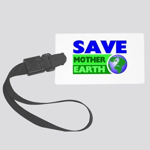 Earth day Large Luggage Tag