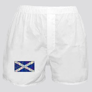 Scotland Flag Stained Glass Window Boxer Shorts
