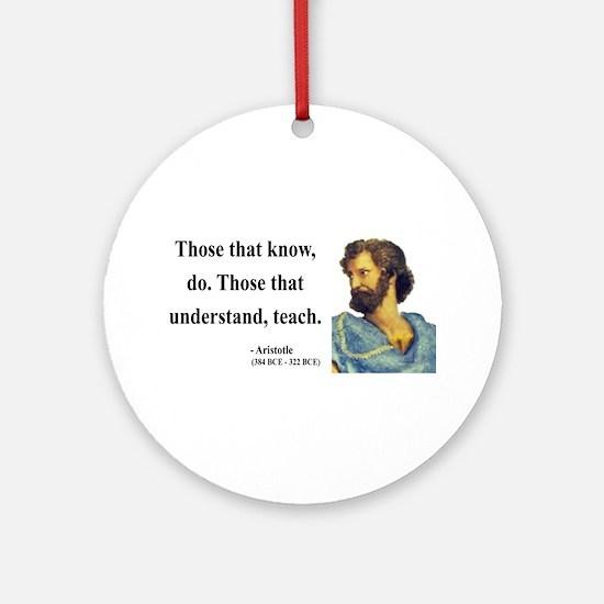 Aristotle 15 Ornament (Round)