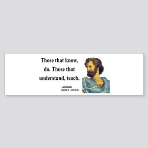 Aristotle 15 Bumper Sticker