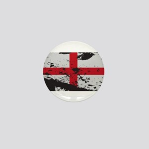 Grunged England Flag Mini Button