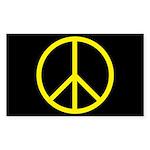 Peace Rectangle Sticker