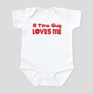 A Tire Guy Loves Me Infant Bodysuit