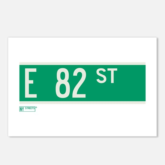 82nd Street in NY Postcards (Package of 8)