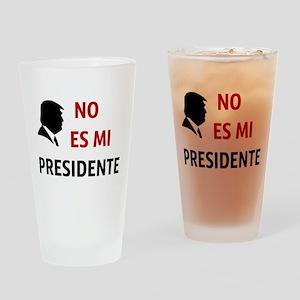 No Es Mi Presidente Not My President Drinking Glas