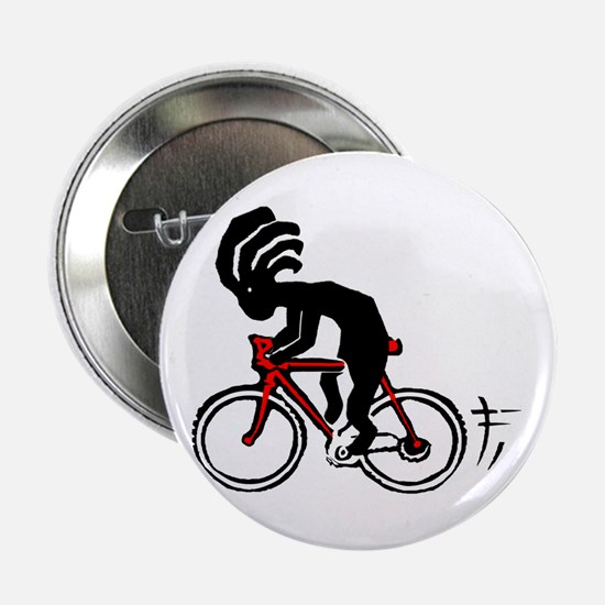 "Kokopelli Bicycle 2.25"" Button"