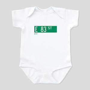 83rd Street in NY Infant Bodysuit