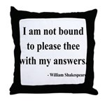 Shakespeare 13 Throw Pillow