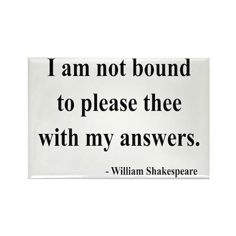 Shakespeare 13 Rectangle Magnet