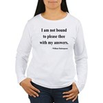 Shakespeare 13 Women's Long Sleeve T-Shirt