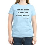 Shakespeare 13 Women's Light T-Shirt