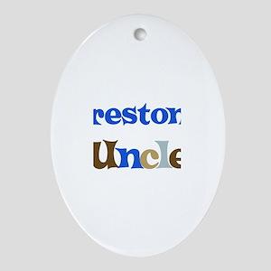 Preston's Uncle  Oval Ornament