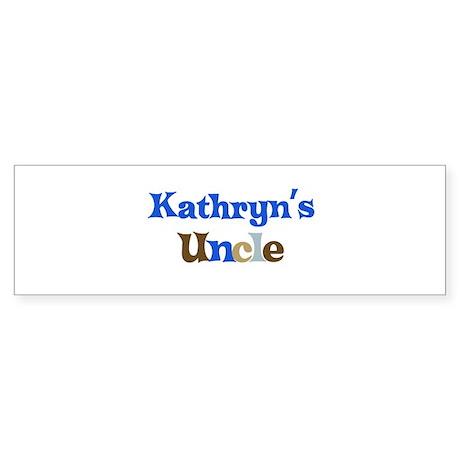 Kathryn's Uncle Bumper Sticker