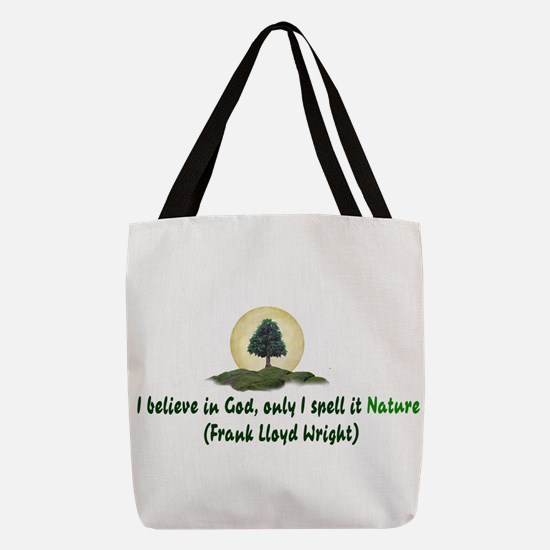 Believe In Nature Polyester Tote Bag