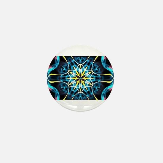 abstract fractal art Mini Button