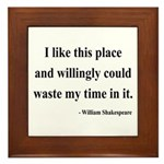 Shakespeare 15 Framed Tile