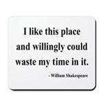 Shakespeare 15 Mousepad