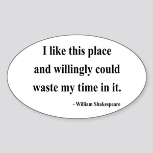 Shakespeare 15 Oval Sticker
