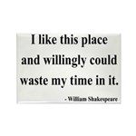 Shakespeare 15 Rectangle Magnet (100 pack)