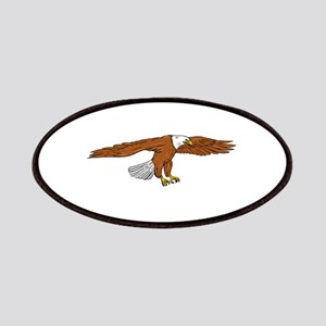 Bald Eagle Swooping Drawing Patch