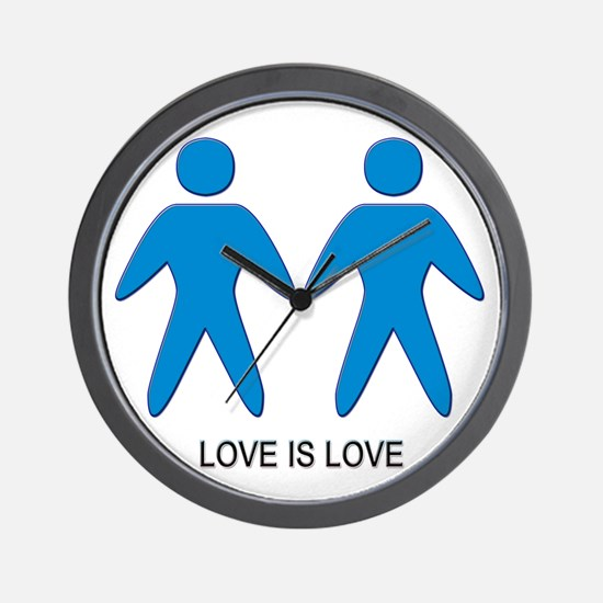 Love is Love (Gay) Wall Clock