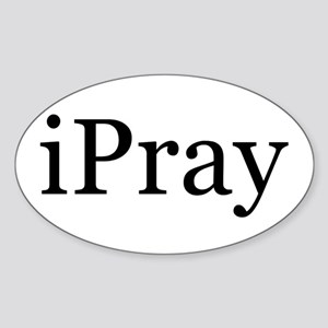 iPray Oval Sticker