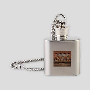 Sub-Biker Silver Flask Necklace