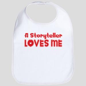 A Storyteller Loves Me Bib
