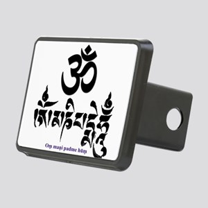 Om mani padme hum 3 Rectangular Hitch Cover