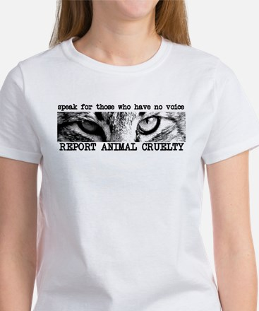 Report Animal Cruelty Cat Women's T-Shirt