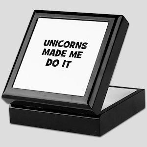 unicorns made me do it Keepsake Box