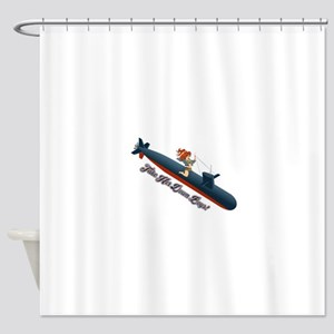 Sub Pin-Up Shower Curtain