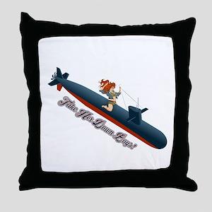 Sub Pin-Up Throw Pillow